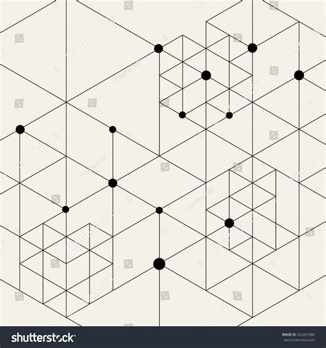 design pattern node vector modern pattern black techno texture stock vector