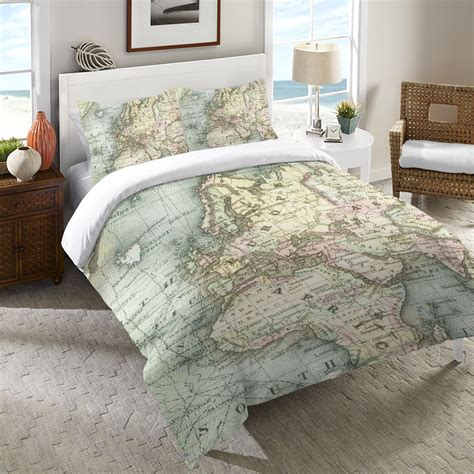 World Map Comforter World Map Duvet Cover From Laural Home Room