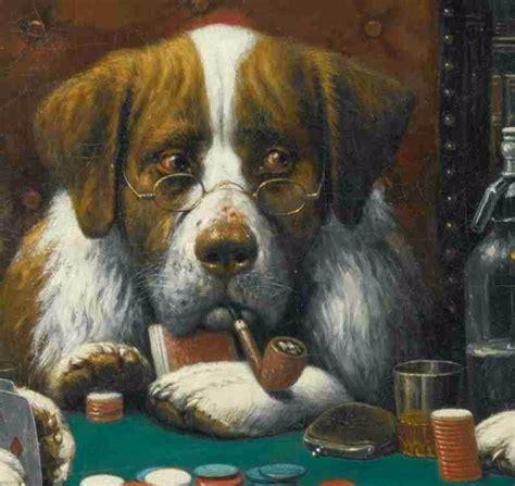 imagenes de animales jugando poker lienzo tela perros jugando poker a 241 o 1894 50 x 61 cm