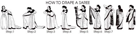 8 Simple Steps To Tie A Sari by 9 Saree Draping How To Wear A Saree For Wedding