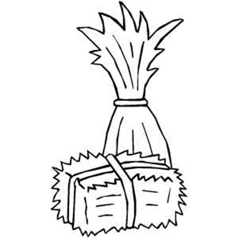 cornstalk and hay coloring page