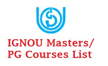 Ignou Courses Mba by Ignou Master Degree Courses List 2017 2018 Mba M A M