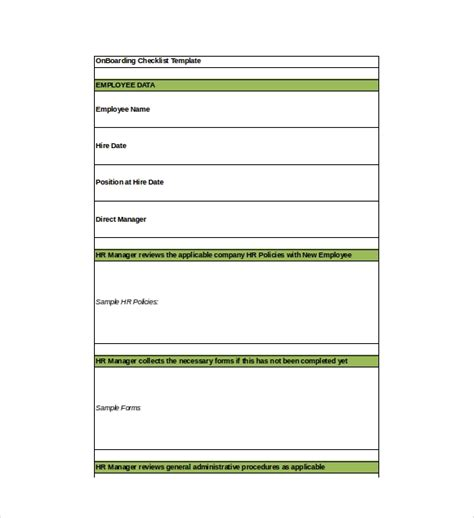 Onboarding Checklist Template 15 Free Word Excel Pdf Documents Download Free Premium Employee Onboarding Checklist Template