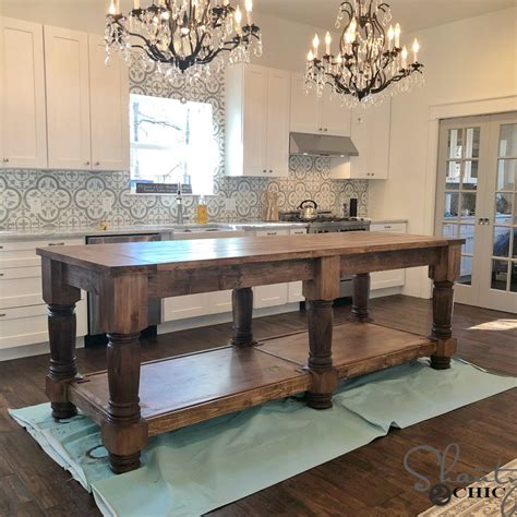 kitchen table or island 2018 diy kitchen island free plans how to shanty 2 chic