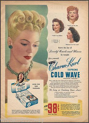 cursons coldwave hair products kenya 1945 charm kurl vintage hair styling product ad cold wave