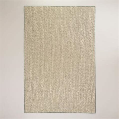 chunky sisal rug 6 x9 blue bordered chunky jacquard weave sisal rug world market