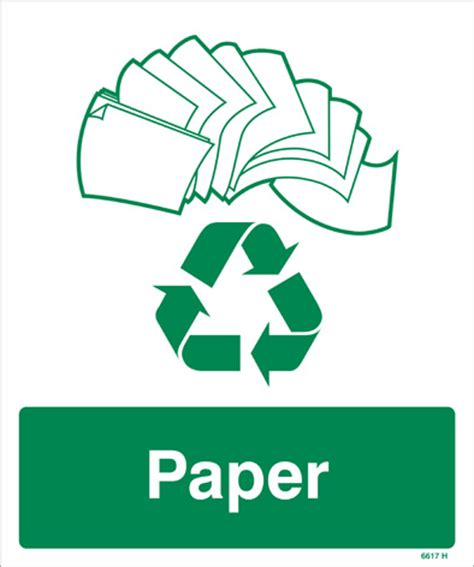 Recycle Paper - paper recycling sign rigid plastic sign nexus cleaning