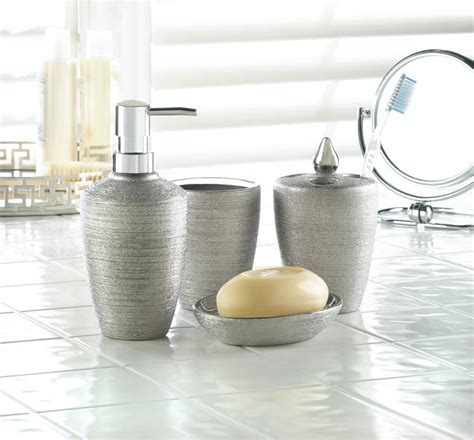 cheap bathroom sets for sale wholesale silver shimmer bath accessory set buy