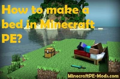 how to make a bed in minecraft pe how to make a bed in minecraft pe guides faq mcpe