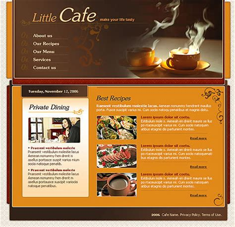 Tasteful Coffee Website Template Designs For Your Cafe Website Template
