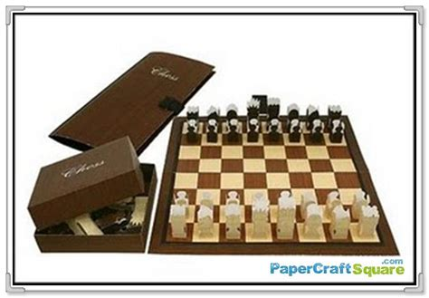 Paper Craft Canon - canon creative park chess papercraft