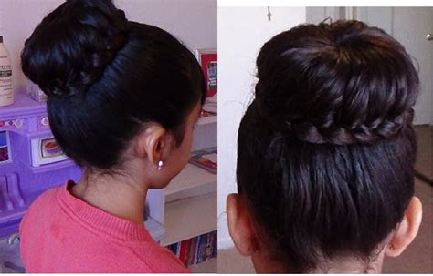 como hacer un chongo facil y rapido youtube mo 241 o chongo con trenza braided bun hair tutorial youtube