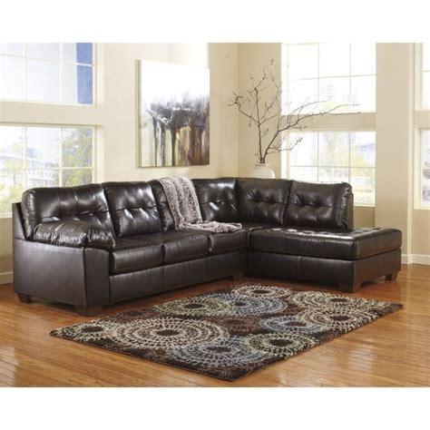 Ashley Furniture Alliston 2 Piece Leather Sectional Sofa