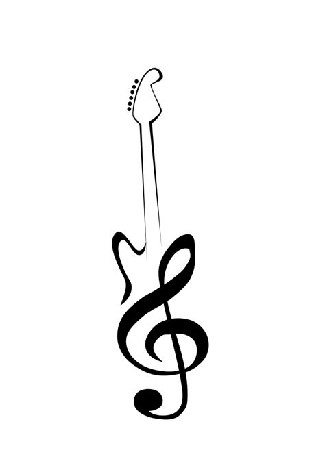 simple guitar tattoo design guitar clef by mangledmess on deviantart