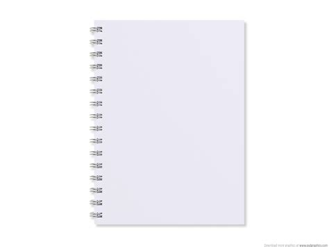blank paper template blank white notebook psdgraphics