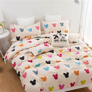 Twin Duvet Covers Kids Mickey 100 Cotton Kids Bedding Set For Girls 3d Brief