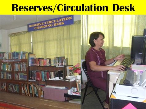 reserve section in the library definition southern christian college library sections units