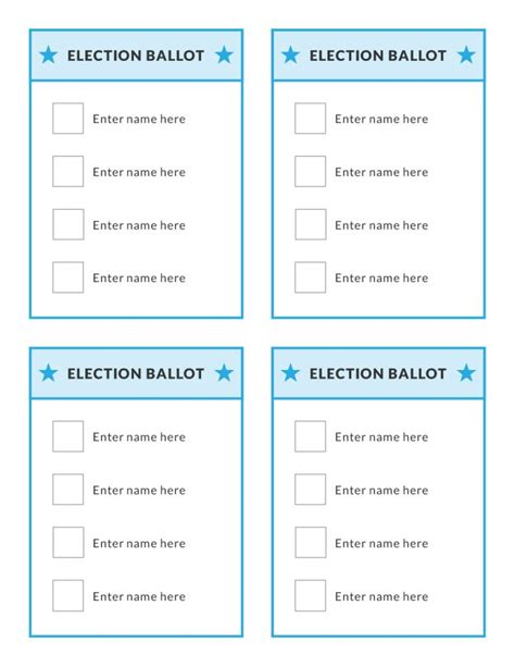 election ballots template voting ballot template