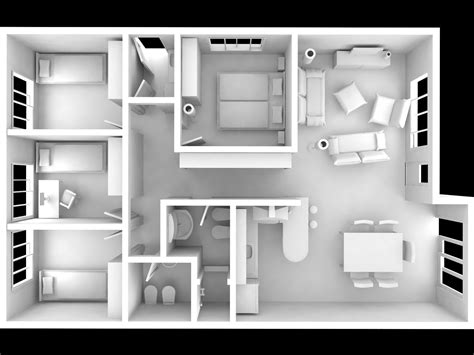 interior house model interior house full modeled 3d model max cgtrader com