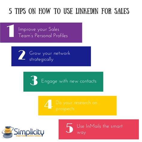 how to use 5 tips on how to use linkedin for sales simplicity