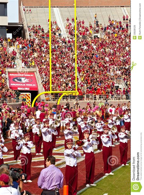 the marching chiefs of florida state the band that never lost a halftime show books college football editorial stock image image 33528129