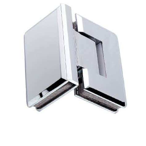 Frameless Glass Shower Door Hinges 90 Degree Glass To Glass Shower Door Hinge Chrome Plated Solid Copper Tapered Edges