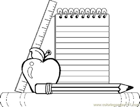 school supplies 03 coloring page free school coloring