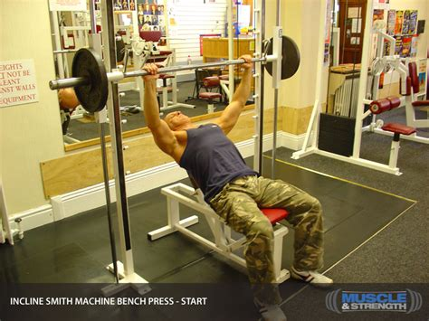 incline bench press at home incline smith machine bench press video exercise guide tips