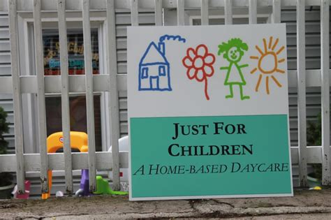just for children home daycare child care day care