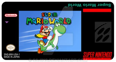 Snes Label Template by Label Snes Mario World Remastered By Ssjins On