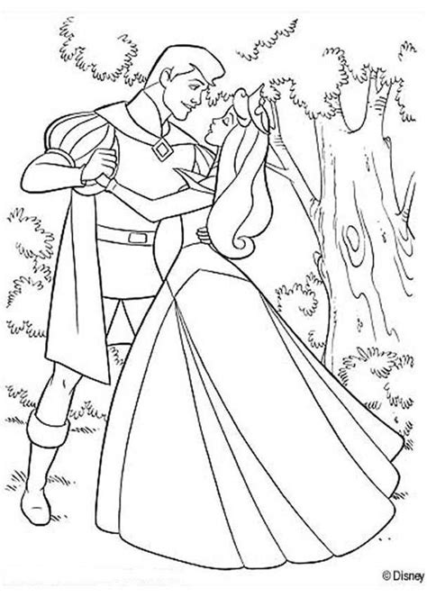 disney coloring pages aurora aurora dancing with prince philip coloring pages