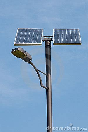 solar panel light post solar powered l post stock photo image 8864950