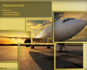 Free Aircraft Powerpoint Template Airplane Powerpoint Template