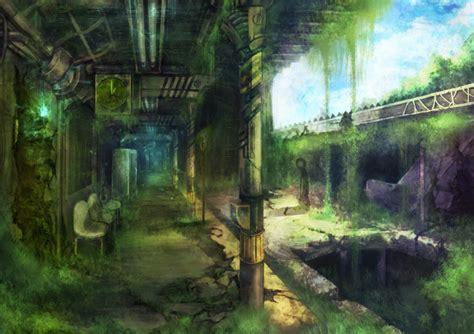anime landscape apocalypse wallpapers