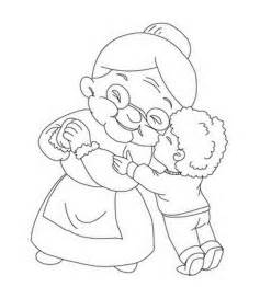 grandparents coloring page reading coloring pages