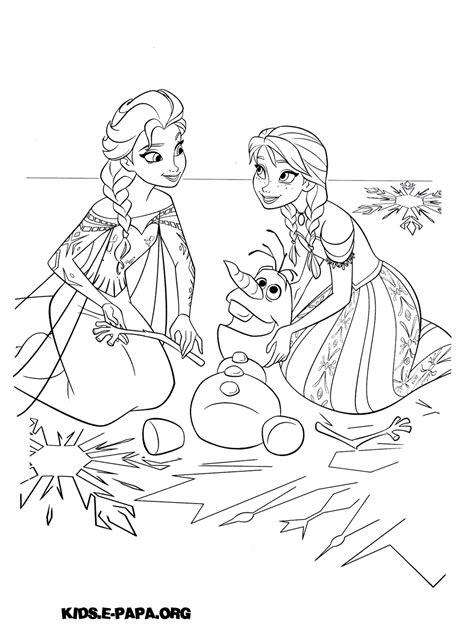 Målarbilder för barn Elsa, Anna och Olof