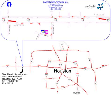 houston map get directions houston facility map directions sasol american