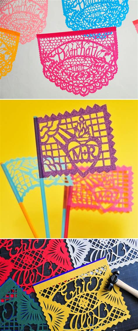 Wedding Banners And Flags by Papel Picado Mexican Wedding Banners And Flags Junebug