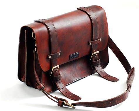 leather messenger bag or leather lawyers bag leather
