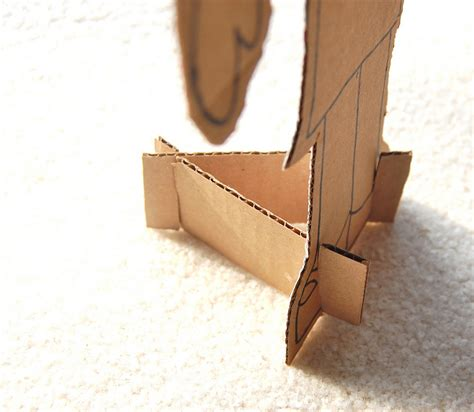Cardboard Paper Craft - tips on working with cardboard diy craft projects from