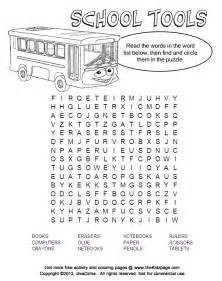 tools word puzzle free printable learning activities kids printable