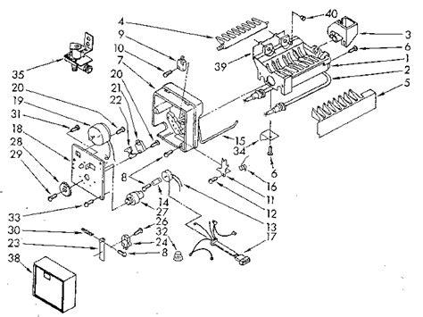 kenmore maker parts diagram kenmore refrigerator maker wiring diagram circuit