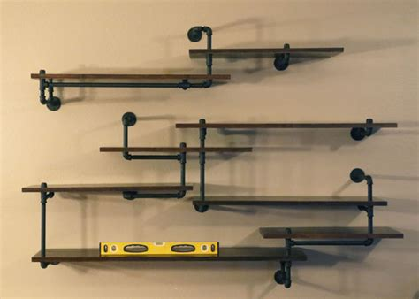 plumbing pipe shelves industrial pipe shelving built in