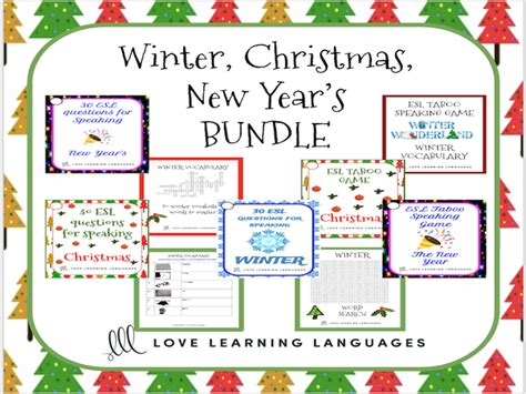 new year activities tes esl ell winter and new year s speaking