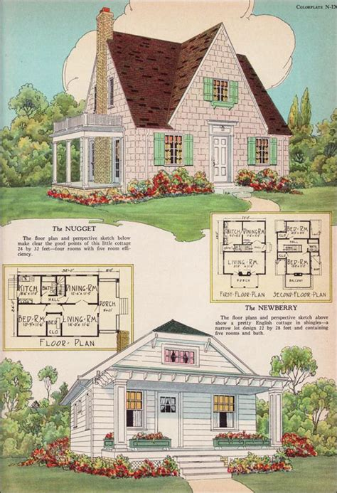 Radford House Plans 1925 Nugget And Newberry Small House Inspiration For Today S
