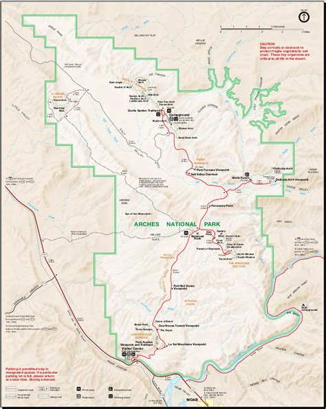 arches national park map map of arches national park worldofmaps net maps and travel information