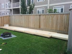 Backyard Bowling Lane Build Your Own Backyard Bowling Alley Diy Ready