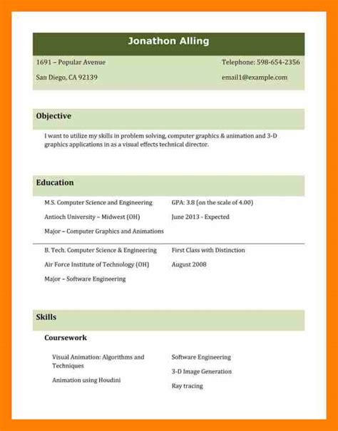 Attractive Resume Templates by 8 Attractive Resume Format Resign Template
