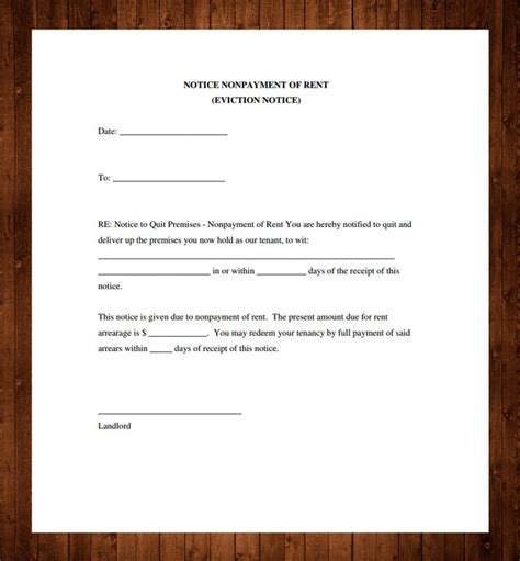 sle eviction notice for nonpayment landlord eviction notice template 28 images free