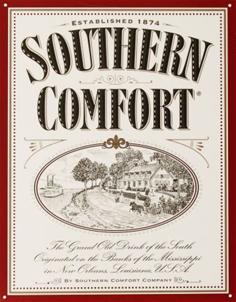 southern comfort label tin sign poster and print